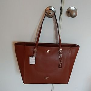 COACH leather tote never used.